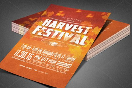Harvest Festival Church Flyer (82327)