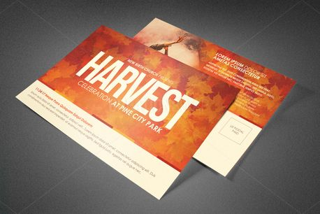 Harvest Celebration Postcard (82343)