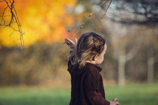 Toddler Walking in Fall