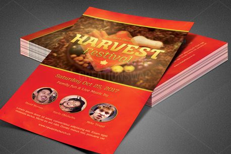 Harvest Festival Church Flyer (82441)