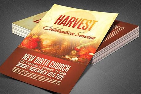Harvest Church Flyer Template (82456)