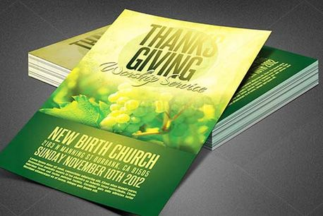 Thanksgiving Church Flyer Temp (82457)
