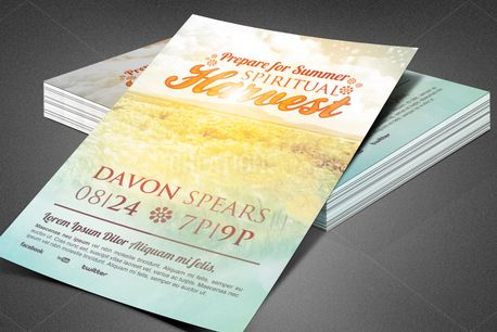Spiritual Harvest Church Flyer (82458)