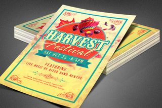 Harvest Festival Church Flyer
