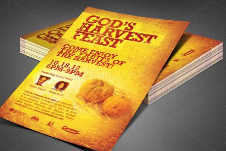 God's Harvest Feast Flyer (82460)
