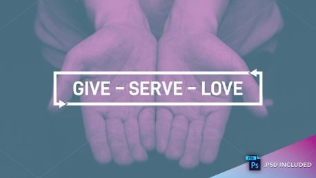 Give Serve Love // With PSD (82473)