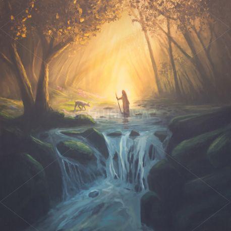Jesus and Lost Lamb (82526)