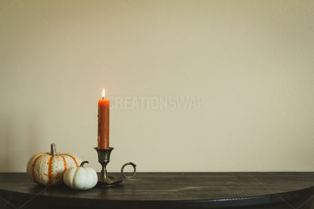 Candlestick and Pumpkins (82566)