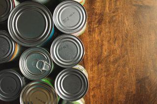 Canned Goods on Wood