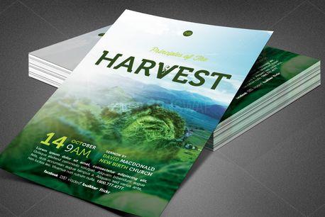 Principles of Harvest Flyer (82576)