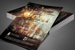 World War Won! Church Flyer