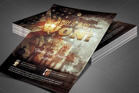 World War Won! Church Flyer (82775)
