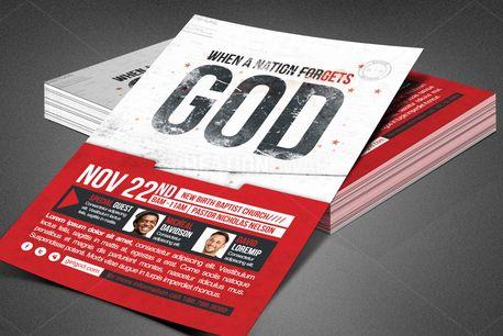 Nation Forgets God Flyer (82777)