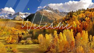 Autumn Welcome Colorful Motion