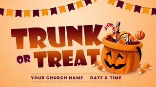 Trunk or Treat  Pumpkin Candy