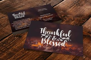 Thankful & Blessed Invite Card