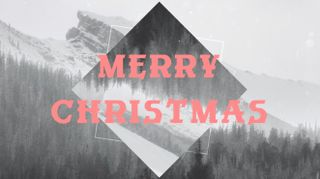 Snowy Mountain Merry Christmas