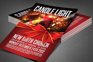 Candle Light Service Flyer