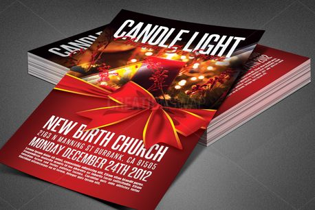 Candle Light Service Flyer (83911)