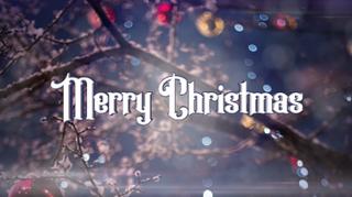 Christmas Bokeh Merry