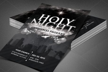 Holy Night Chirstmas Flyer (84013)