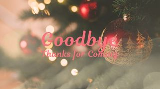 Christmas Tree Goodbye