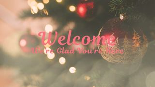 Christmas Tree Welcome