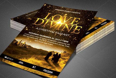Love Divine Church Flyer (84180)