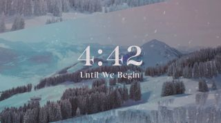 Snowy Mountainscape Countdown