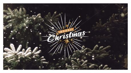 Merry Christmas - Snowy Pine (84222)