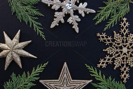 Snowflakes + Greenery (84286)