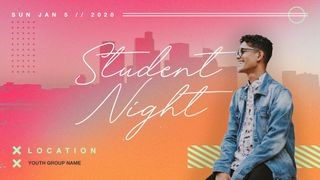 Student Night Slide