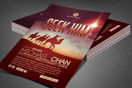 Seek Him Church Flyer Template (84481)