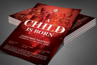 A Child is Born Church Flyer