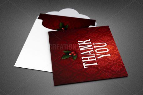 Ornate Christmas Thank You (84769)