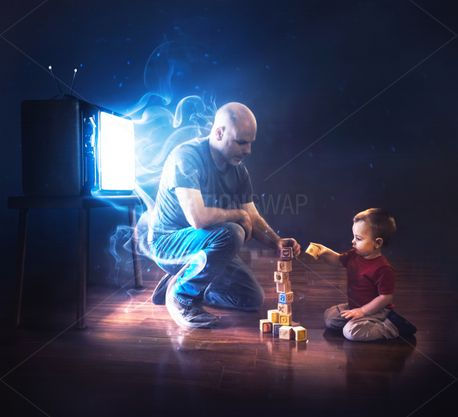 Father and child playing (84983)