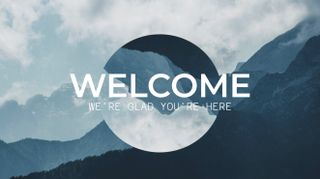 Mountain Parallax Welcome