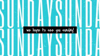Sunday Invite