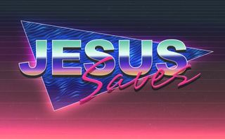 Jesus Saves Title PSD