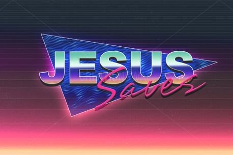 Jesus Saves Title PSD (85485)