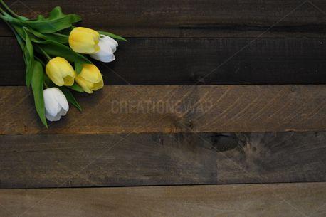 Rustic Wood Tulip Bouquet (85559)