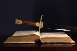 150 Year Old Bible & Sword