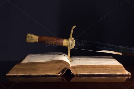 150 Year Old Bible & Sword (85774)