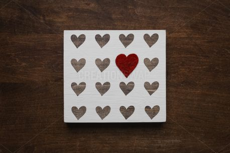 Heart Plaque On Wood (85871)