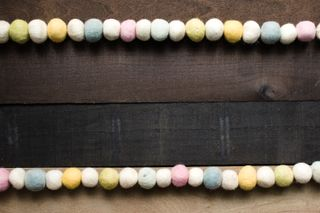 Rustic Felt Ball Garland