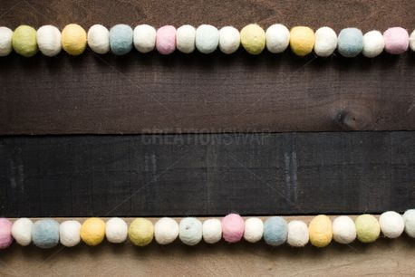 Rustic Felt Ball Garland (86131)