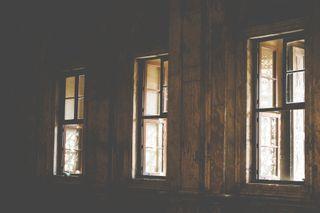 Windows In Dark Room