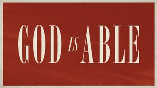 God Is Able Bundle