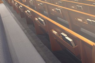 Empty Pews With Bibles
