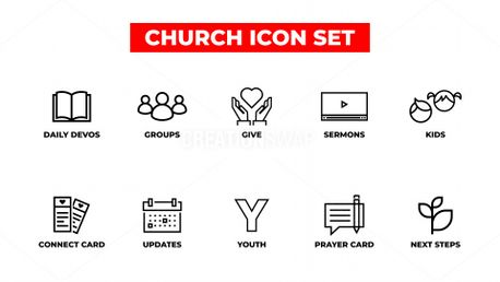 Church Icon Set (87573)